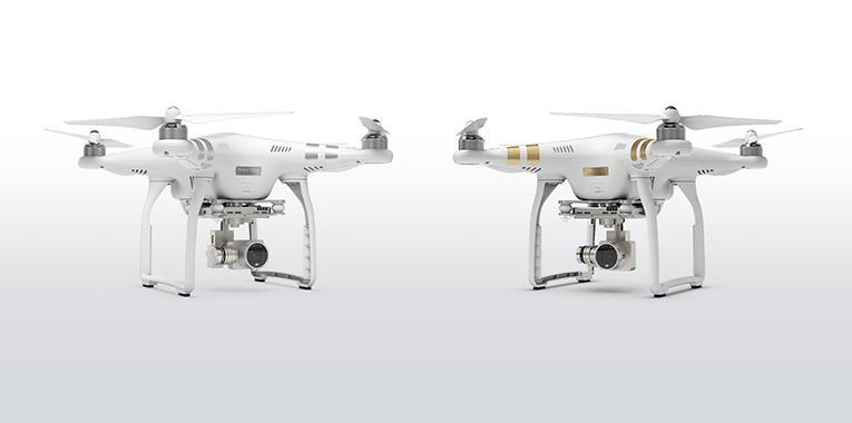 DJI Phantom 3 Pro and Advanced drones