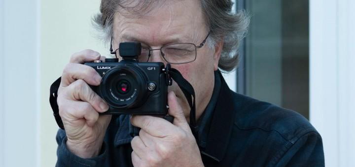 David Thorpe with camera