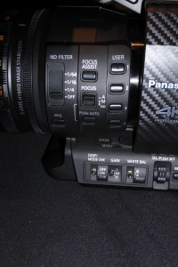 Panasonic DVX200 side buttons
