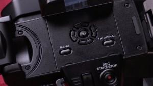 Sony NX100 LCD controls