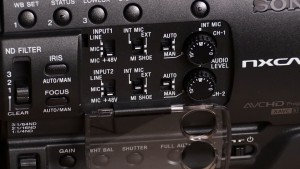 Sony NX100 audio controls