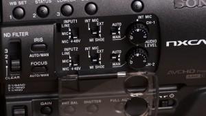 Sony NX100 audio controls