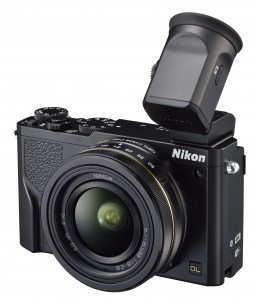 Nikon DL18-50 with optional viewfinder up