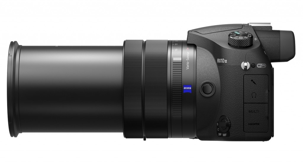 Sony RX10 Mk III with lens extended