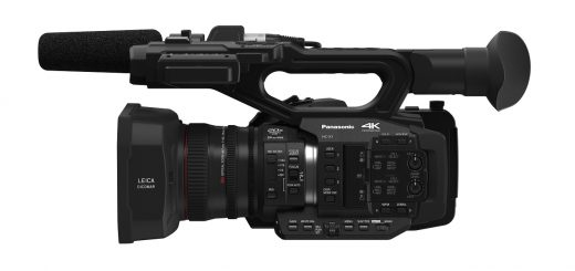 Panasonic X1 4K camcorder (side view)