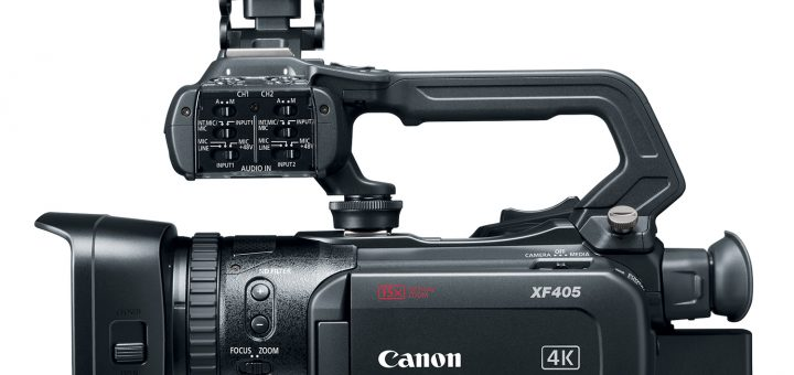 Canon XF405 side view