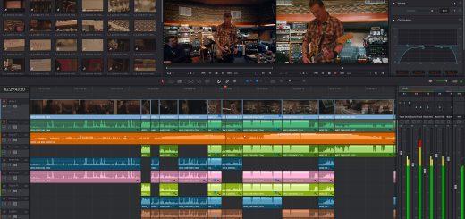 DaVinci Resolve 14 editing interface