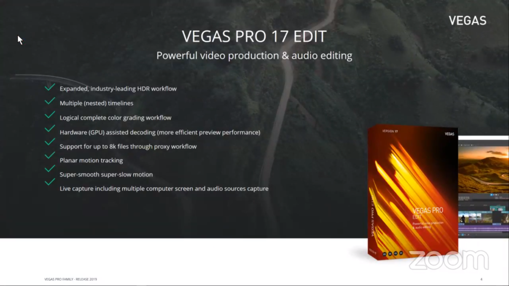 Vegas Pro Edit 17 features